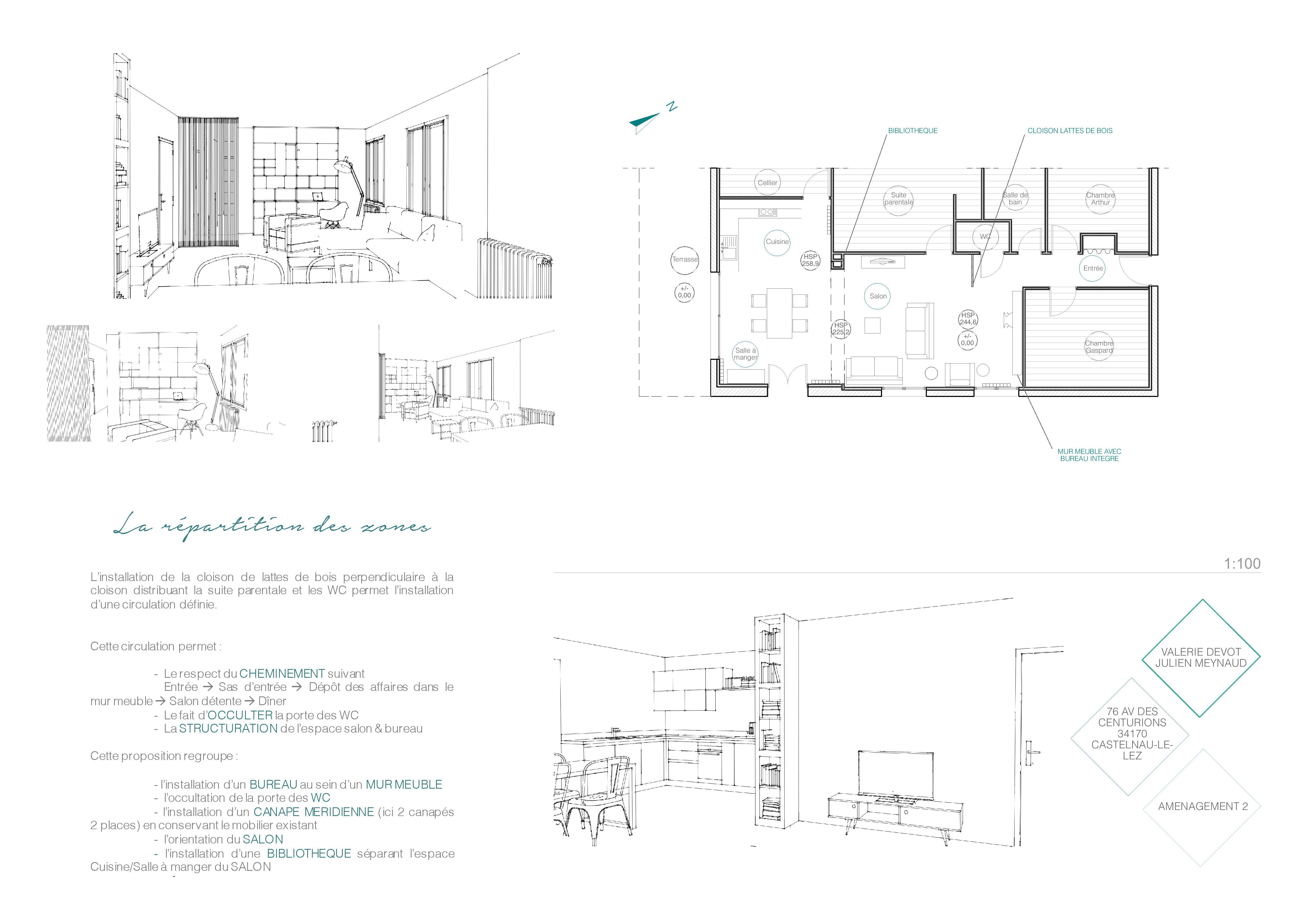 Plan Amenagement Salon Sejour aménagement et structuration d'un salon / séjour – castelnau