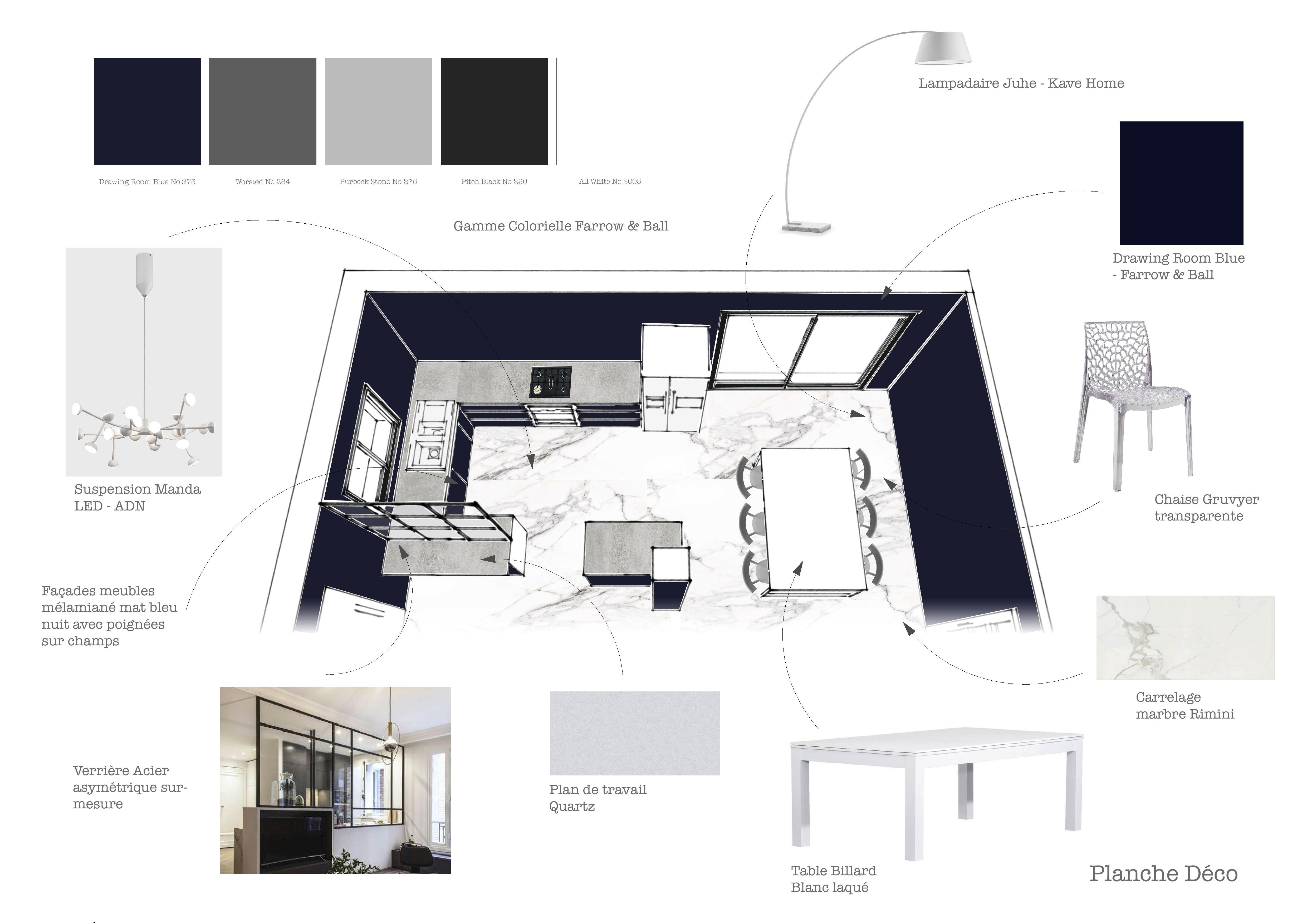 Amenagement De Salle A Manger aménagement & déco : une entrée, cuisine et salle à manger