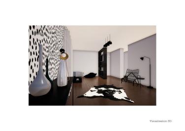 decoration-couloir-noir-blanc-maison-individuelle-mauguio-voligne-6